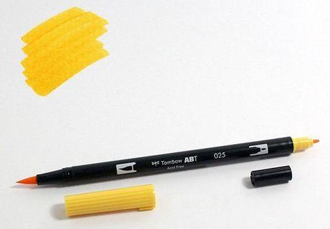 Маркер-кисть Tombow ABT Dual Brush Pen-025, светло-оранжевый
