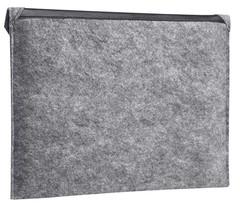 Серый чехол-конверт Gmakin для Macbook с треугольной крышкой