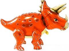 К Ходячая фигура, Динозавр Трицератопс, Оранжевый, 36''/91см.
