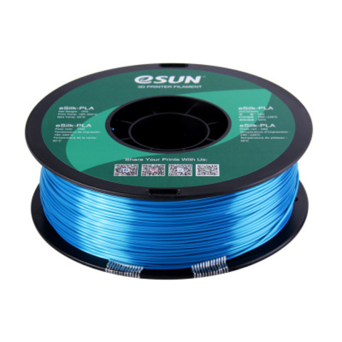 ESUN eSilkPLA, 1.75 мм, 1 кг, голубой