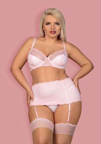 Восхитительный комплект нижнего белья Girlly с поясом для чулок
