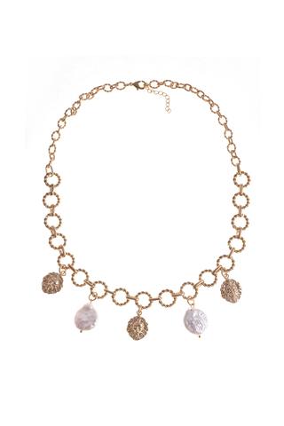 Ожерелье из жемчуга Aurora Leone Gold золотистое