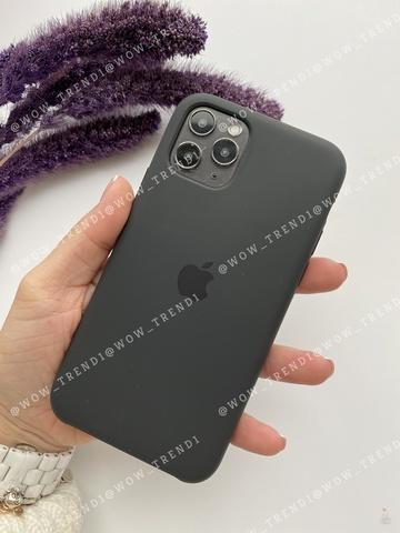 Чехол iPhone 11 Silicone Case /black/ черный original quality