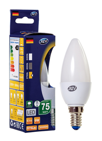 Лампа сд C37 Е14 9W,2700K,теплый свет