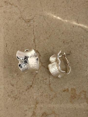 Серьги Цитрика, серебряный цвет