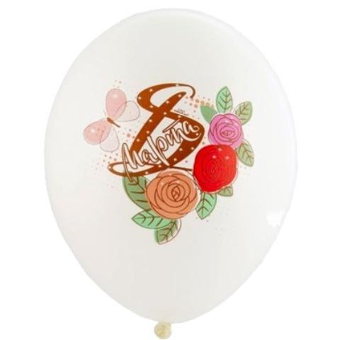Воздушные шары на 8 марта с розами, 36 см