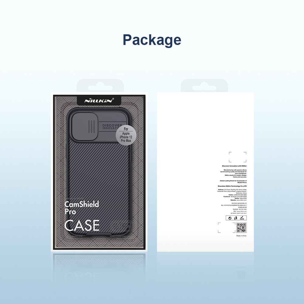 Чехол с защитной шторкой для iPhone 12 Pro Max от Nillkin серии CamShield Pro Case