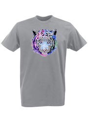 Футболка с принтом Тигр (Tiger) серая 001