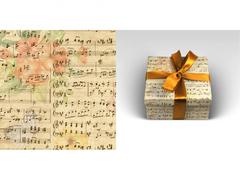 Упаковочная бумага Музыка (5 листов в рулоне. 70 х 100 см)