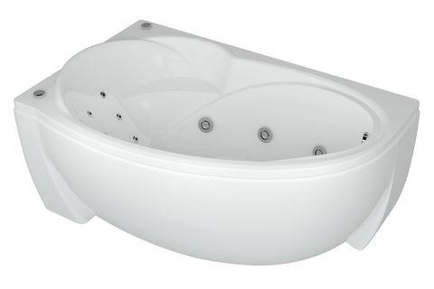 Ванна акриловая  Aquatek Бетта 160х97см. на каркасе и сливом-переливом. левая или правая