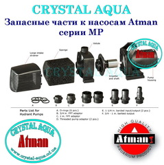 Запчасти для насоса Атман MP-9500