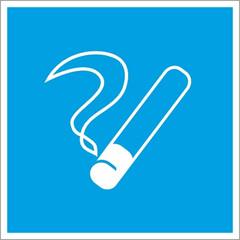 Знак D03 Место курения (плёнка ПВХ, 200х200)
