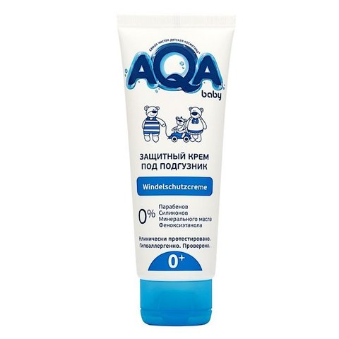 AQA baby. Защитный крем под подгузник для малыша, 75 мл