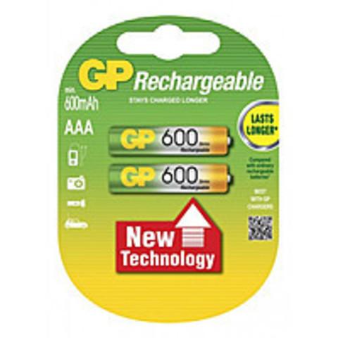 Аккумуляторы GP 60ААAHC-U2 Ni-MH ААA, R03, 1, 2V, 600mAh