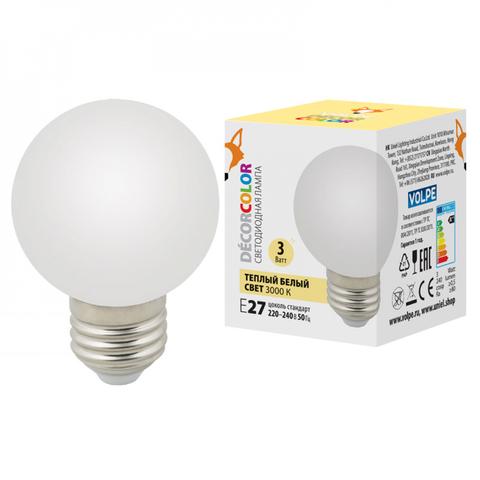 LED-G60-3W/3000K/E27/FR/С Лампа декоративная светодиодная. Форма