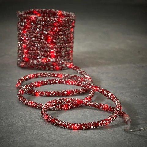 Гирлянда Дюралайт красный 8 функций, для наружного и внутреннего использования