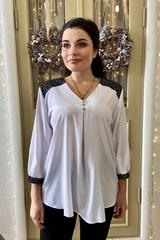 Люсия. Красивая нарядная женская блуза. Белый
