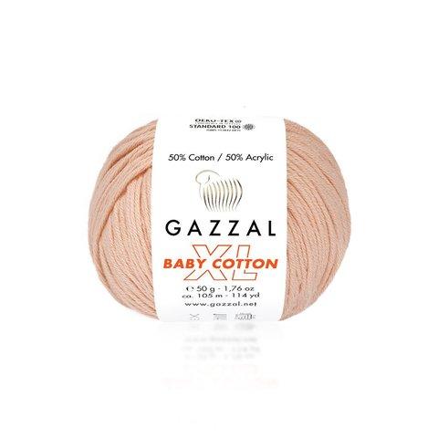 Пряжа Gazzal Baby Cotton XL  3412 персик