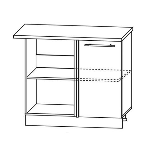 Кухня Капля 3D Шкаф нижний угловой проходящий СУ 1050