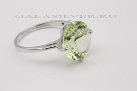 Кольцо с празиолитом из серебра 925