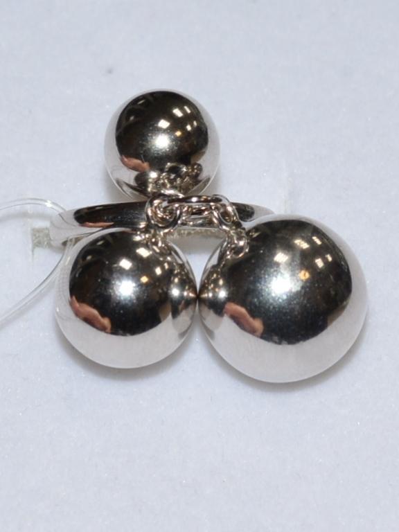 Шарики 1+1+1 (кольцо из серебра)