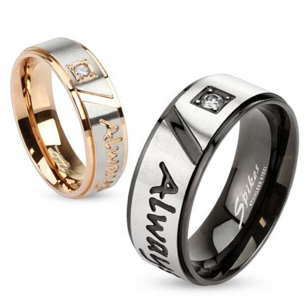 Парные кольца мужские и женские для влюблённых под розовое золото и чёрные