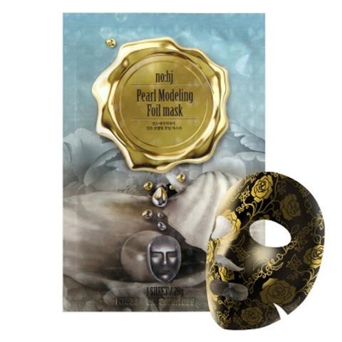 Фольгированная маска с жемчугом и золотом NO:HJ Pearl modelling foil Mask