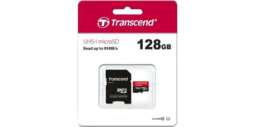 Флеш карта microSD 128GB Transcend microSDXC Class 10 UHS-I U1 (SD адаптер)