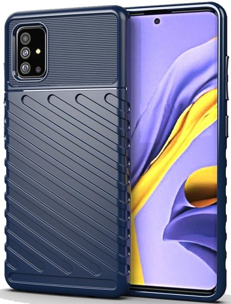 Чехол для Samsung Galaxy A51 (M40S) цвет Blue (синий), серия Onyx от Caseport