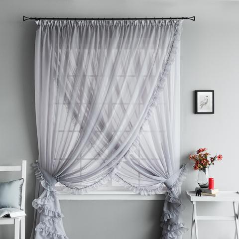 Легкие шторы Феерия серый