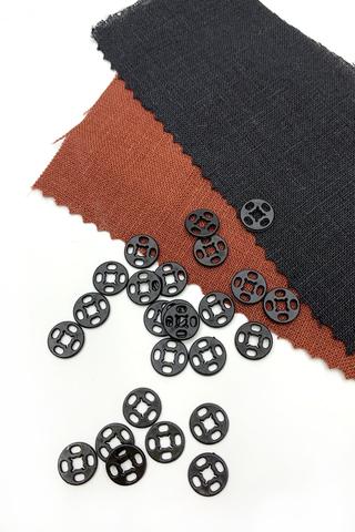 Кнопка,пластик черный, 9 мм