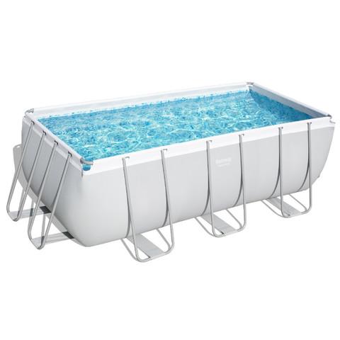 Каркасный прямоугольный бассейн Bestway 56456 (412х201х122 см) с картриджным фильтром и лестницей / 6889
