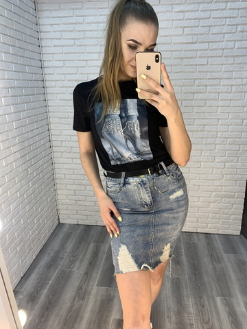 джинсовая юбка удлиненная купить