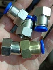 """Фитинг 1/2"""" для пневмошланга 12*8 мм, внутренняя резьба, никель"""