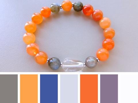 цветовая шпаргалка для выбора цвета одежды под браслет из сердолика