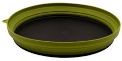 Тарелка Tramp силикон с пласт дном 25,5*25,5*4 , оливковый
