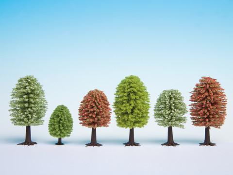Осенние деревья (10 шт., высота 5 - 9 см)