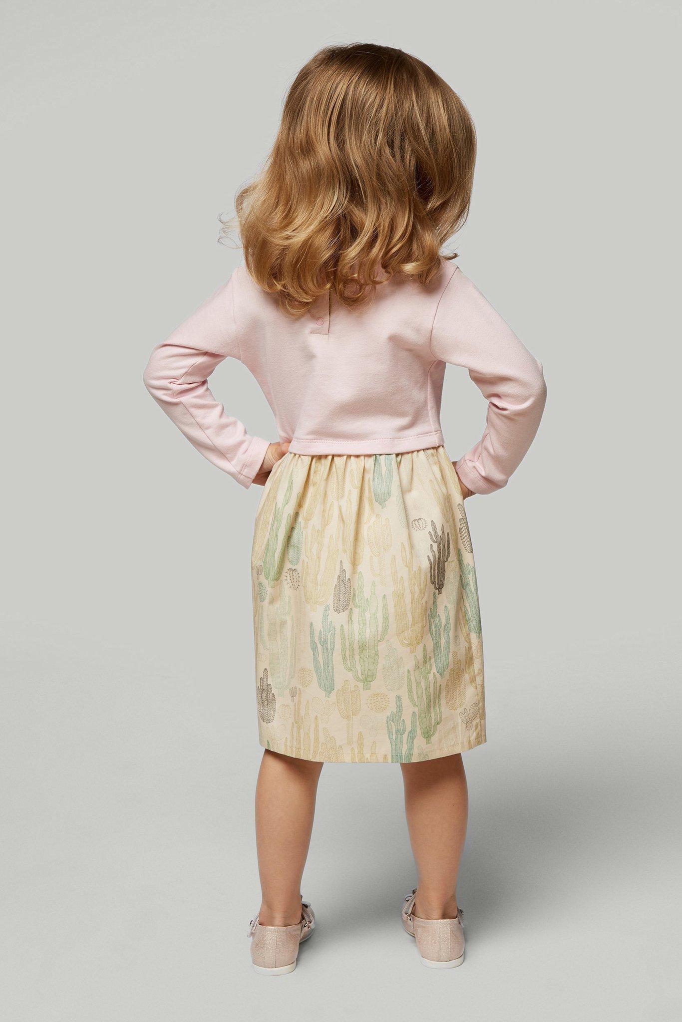 Платье розовое с