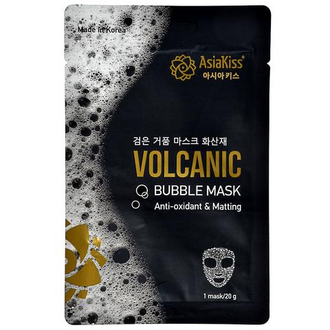 Черная пузырьковая маска AsiaKiss с вулканическим пеплом 20 гр