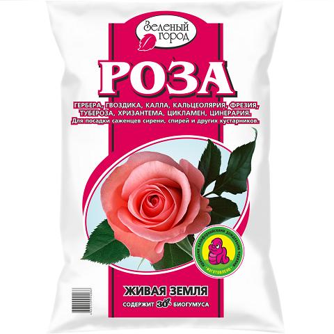 Почвогрунт на основе биогумуса Роза, 8л
