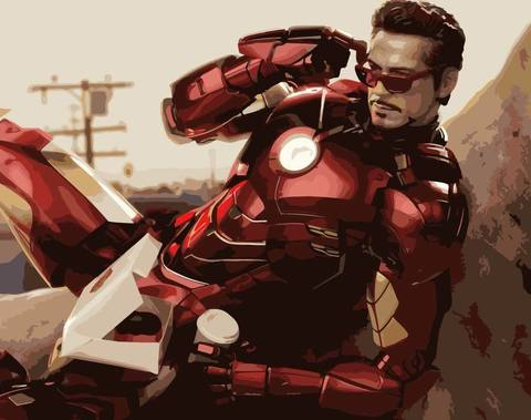 Картина по номерам на холсте Iron Man, 40см*50см