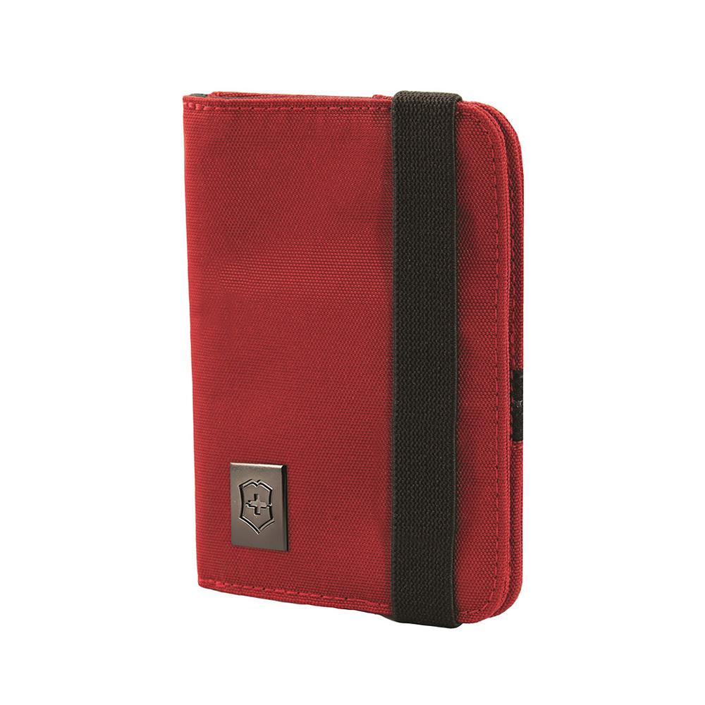 Обложка Victorinox для паспорта, с отделениями для карт, защита от сканирования RFID, цвет красный, нейлон 800D, 14х10x1 см. (31172203) | Wenger-Victorinox.Ru