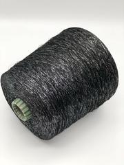 Вискоза с люрексом PEARL E. MIROGLIO черная с серебром