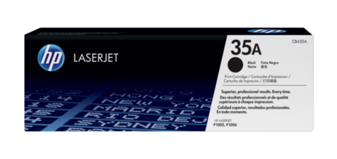 Оригинальный картридж HP CB435A (№35A), чёрный