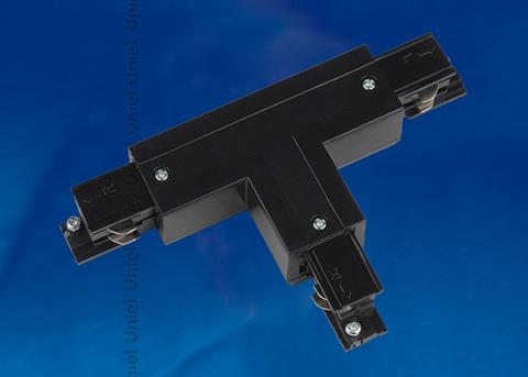 UBX-A34 BLACK 1 POLYBAG Соединитель для шинопроводов Т-образный. Левый. Внутренний. Трехфазный. Цвет — черный. Упаковка — полиэтиленовый пакет.