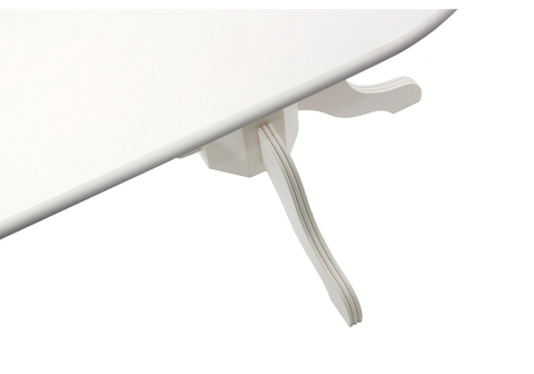 Стол деревянный кухонный, обеденный, для гостиной Fellen butter white 100*100*73 Butter white