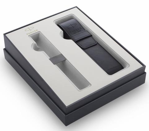 Подарочный набор Parker IM с перьевой ручкой и чехлом Black CT, перо M123