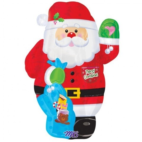 Шар фигура Дед Мороз с мешком