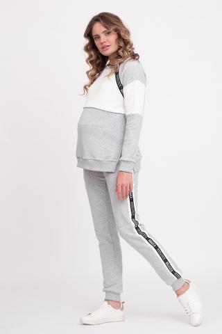 Спортивный костюм для беременных и кормящих 12658 серый