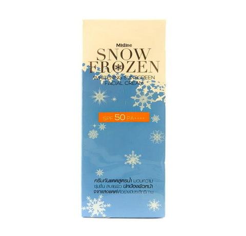 Охлаждающий солнцезащитный лосьон для лица Mistine Snow Frozen Cream SPF 50. 30 мл.